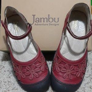 Like New red jambu shoes